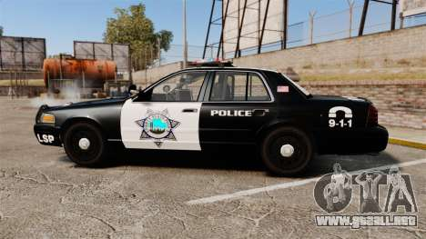 Ford Crown Victoria Liberty State Police para GTA 4 left