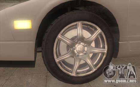 Acura NSX para GTA San Andreas vista posterior izquierda