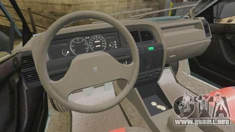 Citroen Xantia 1999 para GTA 4 vista hacia atrás