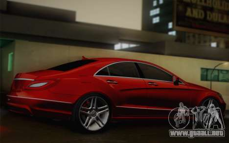 Mercedes-Benz CLS 63 AMG 2012 Fixed para GTA San Andreas vista hacia atrás