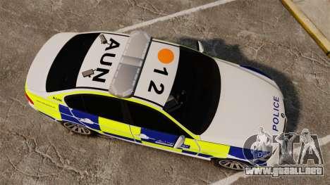 BMW 330i Metropolitan Police [ELS] para GTA 4 visión correcta