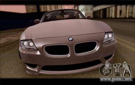 BMW Z4 Stance para GTA San Andreas vista hacia atrás
