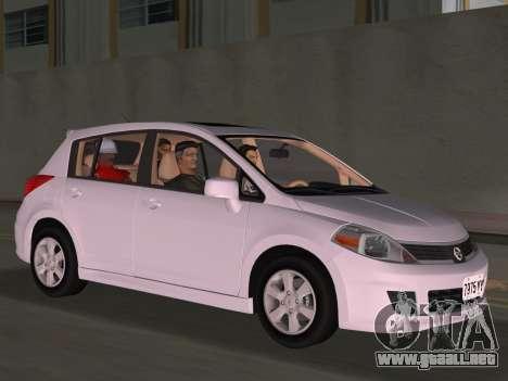 Nissan Tiida para GTA Vice City vista superior