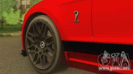Ford Shelby GT500 2013 para la visión correcta GTA San Andreas