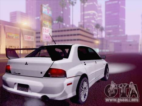 Mitsubishi Lancer Evo IX MR Edition para GTA San Andreas left