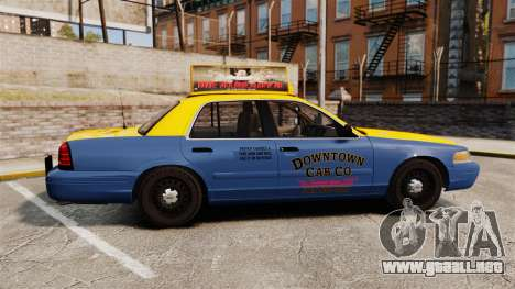 Ford Crown Victoria 1999 GTA V Taxi para GTA 4 left