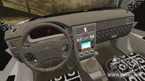 Vaz-2170 Lada Priora DPS para GTA 4 vista interior
