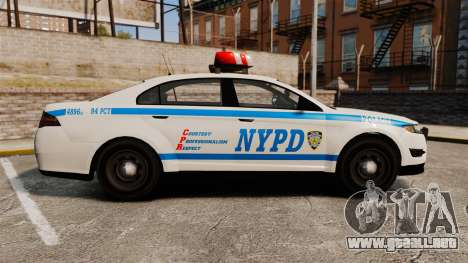 GTA V Police Vapid Interceptor NYPD para GTA 4 left