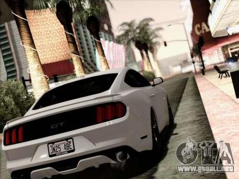 Ford Mustang GT 2015 v2 para GTA San Andreas left