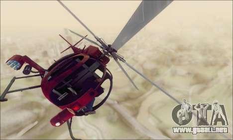 Helicóptero de ataque buitre de GTA 5 para GTA San Andreas