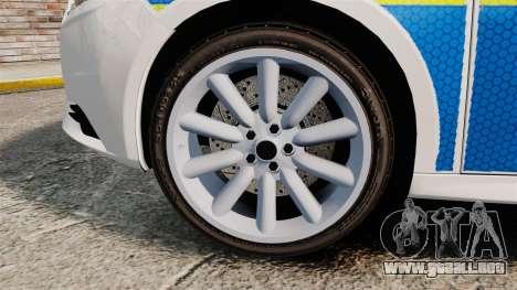 Ford Focus 2013 Uk Police [ELS] para GTA 4 vista hacia atrás