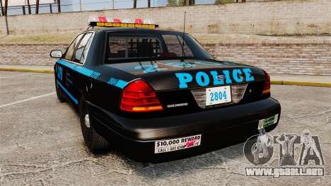 Ford Crown Victoria 1999 LCPD para GTA 4 Vista posterior izquierda
