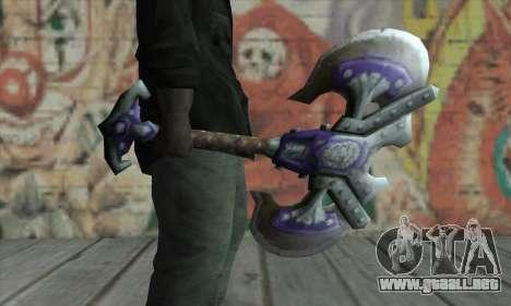 Hacha de World of Warcraft para GTA San Andreas segunda pantalla