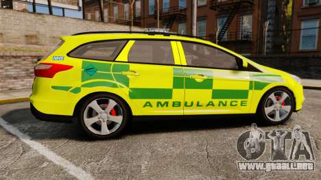 Ford Focus ST Estate 2012 [ELS] London Ambulance para GTA 4 left