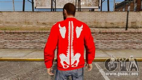 Suéter rojo-esqueleto - para GTA 4 segundos de pantalla