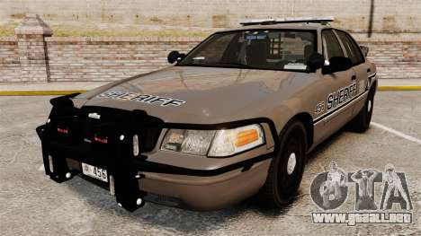 Ford Crown Victoria 2008 Sheriff Traffic [ELS] para GTA 4