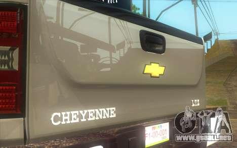 Chevrolet Cheyenne LT 2012 para GTA San Andreas vista posterior izquierda