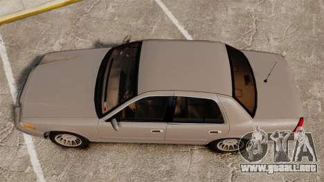 Ford Crown Victoria 1999 para GTA 4 visión correcta