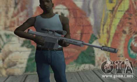 Rifle de francotirador de los Saints Row 2 para GTA San Andreas tercera pantalla
