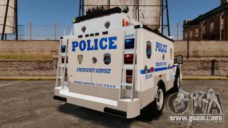 Ford F-550 2012 NYPD [ELS] para GTA 4 Vista posterior izquierda