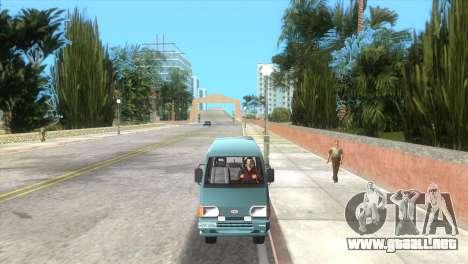 Kia Towner para GTA Vice City vista lateral izquierdo