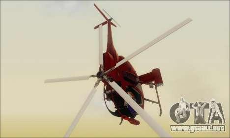 Helicóptero de ataque buitre de GTA 5 para GTA San Andreas vista posterior izquierda