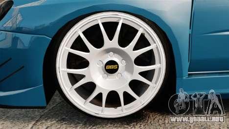 Subaru Impreza HD Arif Turkyilmaz para GTA 4 vista hacia atrás