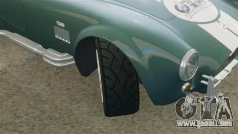 Shelby Cobra 427 SC 1965 para GTA 4 vista desde abajo