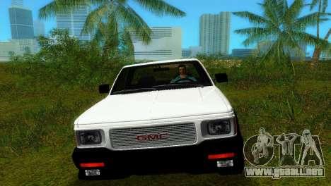 GMC Cyclone 1992 para GTA Vice City visión correcta