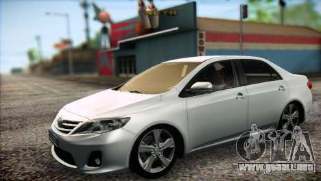 Toyota Corolla 2012 para GTA San Andreas left