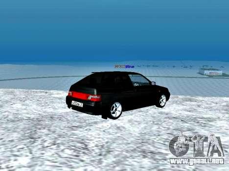 LADA 2112 Coupe verde Sandpiper para GTA San Andreas vista posterior izquierda