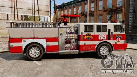 Camión de bomberos para GTA 4 left