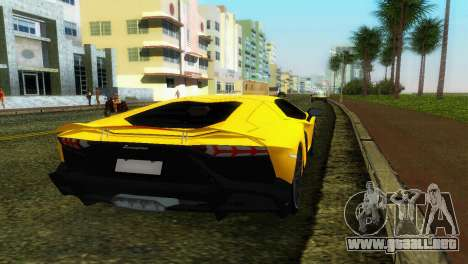 Lamborghini Aventador LP720-4 50th Anniversario para GTA Vice City vista lateral izquierdo