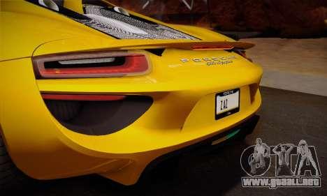 Porsche 918 Spyder 2014 para el motor de GTA San Andreas