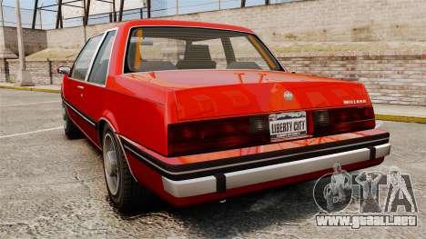 Willard Coupe para GTA 4 Vista posterior izquierda