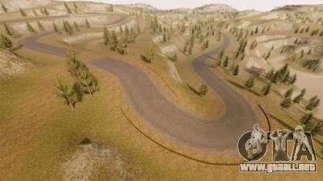 Cliffside ubicación Rally para GTA 4 novena de pantalla