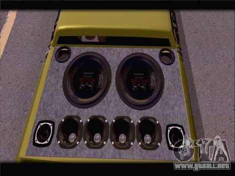 New Slamvan para GTA San Andreas vista hacia atrás