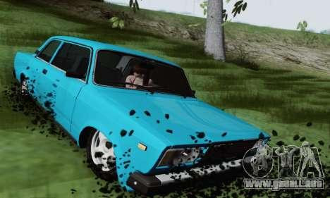 VAZ 2107 Coupe para GTA San Andreas vista hacia atrás