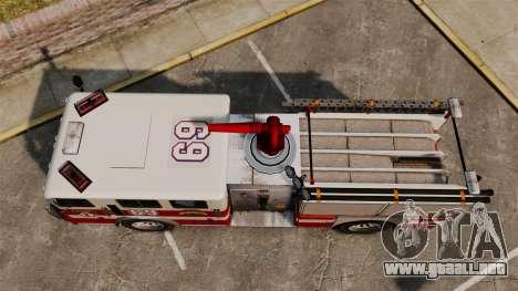 Camión de bomberos para GTA 4 visión correcta