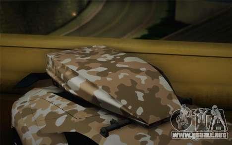 Lamborghini Aventador LP 700-4 Camouflage para la visión correcta GTA San Andreas