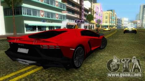 Lamborghini Aventador LP720-4 50th Anniversario para GTA Vice City vista desde abajo