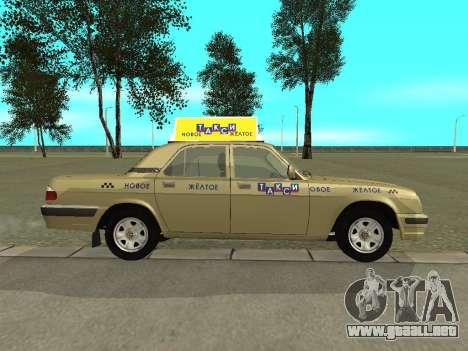 GAZ 31105 Volga Taxi para GTA San Andreas vista posterior izquierda