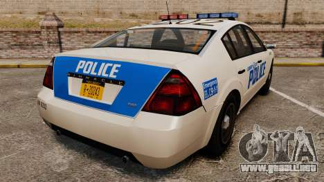Pinnacle Police LCPD [ELS] para GTA 4 Vista posterior izquierda