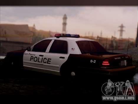Ford Crown Victoria 2005 Police para GTA San Andreas vista posterior izquierda