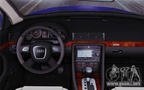 Audi A4 2005 Avant 3.2 Quattro Open Sky para la visión correcta GTA San Andreas