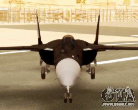 Su-47 Berkut v1.0 para GTA San Andreas vista posterior izquierda