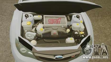 Subaru Impreza 2010 para GTA 4 vista interior