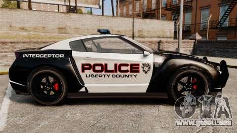 GTA V Police Elegy RH8 para GTA 4 left
