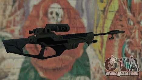 Rifle de francotirador de Timeshift para GTA San Andreas segunda pantalla
