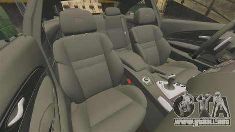 BMW M6 para GTA 4 vista lateral